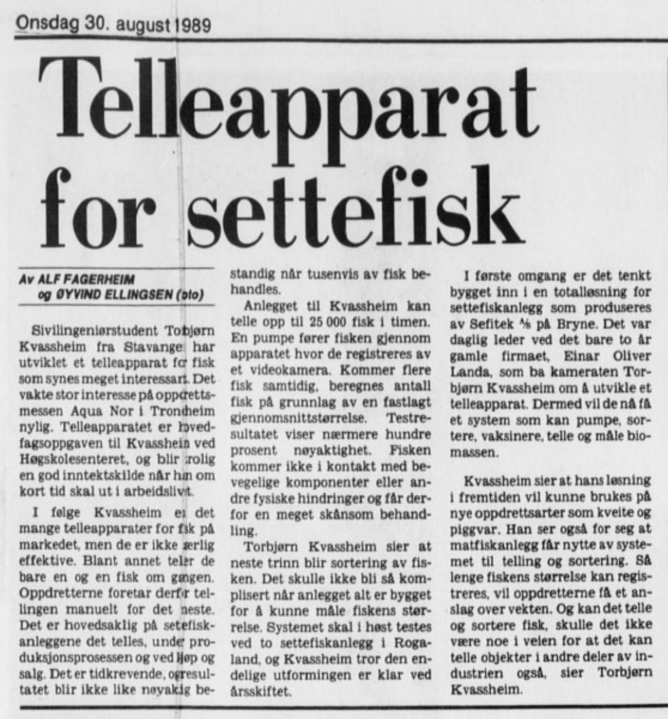 30. August 1989 (Stavanger Aftenblad)